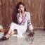 เสื้อผ้าแฟชั่นเกาหลี Normal Ally Present Bohemian Embroidered maxi dress thumbnail 1