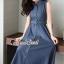Seoul Secret Say's... Korea Dnim Perforated Collar Perforate Shirt Dress thumbnail 3