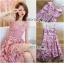 เสื้อผ้าแฟชั่นเกาหลี Lady Ribbon's Made Lady Alisa Baby Pink Guipure Lace Single Dress thumbnail 7