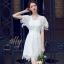 เสื้อผ้าแฟชั่นเกาหลี New Arrival.. Don't Miss!! Normal Ally Present Princess lace white dress thumbnail 1