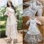 เสื้อผ้าแฟชั่นเกาหลี Lady Ribbon's Made Lady Natalie Little Princess High-Neck White Lace Long Dress thumbnail 11
