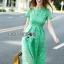 เสื้อผ้าแฟชั่นเกาหลี Lady Ribbon's Made Lady Penelope Elegant Feminine Minty Lace Maxi Dress thumbnail 3