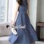 Seoul Secret Say's... Korea Dnim Perforated Collar Perforate Shirt Dress thumbnail 5