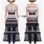 เสื้อผ้าแฟชั่นเกาหลี Lady Ribbon's Made Lady Luna Ruffle Layered Mixed Lace Long Dress thumbnail 7