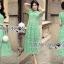 เสื้อผ้าแฟชั่นเกาหลี Lady Ribbon's Made Lady Penelope Elegant Feminine Minty Lace Maxi Dress thumbnail 1