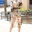 เสื้อผ้าแฟชั่นเกาหลี Seoul Secret Say's... Chic Branches Bird Print Ropy Belt Maxi Dress thumbnail 1