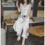 เสื้อผ้าแฟชั่นเกาหลี Lady Ribbon's Made Lady Emma Traveler Minimal Cotton Jumpsuit thumbnail 5