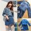 เสื้อผ้าแฟชั่นเกาหลี Lady Ribbon's Made Lady Sarah Street Chic Denim Shirt Dress with Ribbon-Belt thumbnail 6