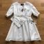 เสื้อผ้าแฟชั่นเกาหลี Lady Ribbon's Made Lady Victoria Casual Holiday White Cotton Dress thumbnail 7
