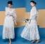 เสื้อผ้าแฟชั่นเกาหลี Lady Ribbon's Made Lady Natalie Little Princess High-Neck White Lace Long Dress thumbnail 10