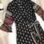 เสื้อผ้าแฟชั่นเกาหลี Lady Ribbon Thailand Normal Ally Present Bohemian print style chic summer dress thumbnail 5