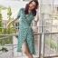 เสื้อผ้าแฟชั่นเกาหลี Lady Ribbon Thailand Normal Ally Present H.M Flower print summer dress thumbnail 1