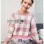 เสื้อผ้าแฟชั่นเกาหลี Lady Ribbon's Made Lady Cecil Tartan Weaves Knit Sweater thumbnail 1