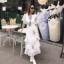 เสื้อผ้าแฟชั่นเกาหลี New Arrival … Don't Miss!! Normal Ally Present Embroider flower W.L new collection dress thumbnail 4