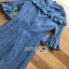 เสื้อผ้าแฟชั่นเกาหลี Lady Ribbon's Made Lady Lizzy High-Neck Ruffle Dark Blue Lace Dress thumbnail 10