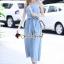 เสื้อผ้าแฟชั่นเกาหลี oul Secret Say's... Nifty Light Blue Denim Smocking Bow Playsuit thumbnail 4