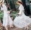 เสื้อผ้าแฟชั่นเกาหลี Lady Ribbon's Made Lady Natalie Little Princess High-Neck White Lace Long Dress thumbnail 7