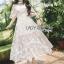 เสื้อผ้าแฟชั่นเกาหลี Lady Ribbon's Made Lady Natalie Little Princess High-Neck White Lace Long Dress thumbnail 2