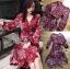 เสื้อผ้าแฟชั่นเกาหลี Lady Ribbon's Made Lady Monica Floral Patterned Printed Wrap Dress thumbnail 13