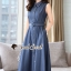 Seoul Secret Say's... Korea Dnim Perforated Collar Perforate Shirt Dress thumbnail 1
