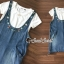 Seoul Secret Say's...Star pendant T-shirt Splitty Skirt Bibby Set thumbnail 5