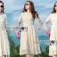 เสื้อผ้าแฟชั่นเกาหลี Lady Ribbon's Made Lady Nasha Sweet Classic White Lace Dress with Belt thumbnail 1