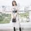 เสื้อผ้าแฟชั่นเกาหลี New Arrival … Don't Miss!! Normal Ally Present Embroider flower W.L new collection dress thumbnail 1