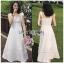 เสื้อผ้าแฟชั่นเกาหลี Lady Ribbon's Made Lady Kiera Holiday Bliss Ribbon Strap Embroidered White Linen Dress thumbnail 1