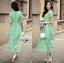 เสื้อผ้าแฟชั่นเกาหลี Lady Ribbon's Made Lady Penelope Elegant Feminine Minty Lace Maxi Dress thumbnail 2