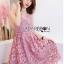 เสื้อผ้าแฟชั่นเกาหลี Lady Ribbon's Made Lady Alisa Baby Pink Guipure Lace Single Dress thumbnail 4