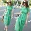 เสื้อผ้าแฟชั่นเกาหลี Lady Ribbon's Made Lady Penelope Elegant Feminine Minty Lace Maxi Dress thumbnail 4