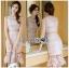 🎀 Lady Ribbon's Made 🎀 Lady Emma Sweet Baby Pink Guipure Lace Dress thumbnail 1