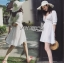 เสื้อผ้าแฟชั่นเกาหลี Lady Ribbon's Made Lady Victoria Casual Holiday White Cotton Dress thumbnail 2