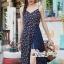 เสื้อผ้าแฟชั่นเกาหลี Lady Ribbon Thailand Seoul Secret Say'...Summer Maxi Dress Single Line Floral Prints thumbnail 3