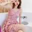 เสื้อผ้าแฟชั่นเกาหลี Lady Ribbon's Made Lady Alisa Baby Pink Guipure Lace Single Dress thumbnail 1
