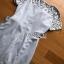 เสื้อผ้าแฟชั่นเกาหลี Lady Ribbon's Made Lady Sofia Graphic Two-Tone Baby Blue Dress thumbnail 12