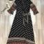 เสื้อผ้าแฟชั่นเกาหลี Lady Ribbon Thailand Normal Ally Present Bohemian print style chic summer dress thumbnail 4