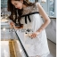 🎀 Lady Ribbon's Made 🎀 Lady Rika Feminine Pearl Embellished White Lace Dress thumbnail 2