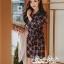 เสื้อผ้าแฟชั่นเกาหลี Lady Ribbon Thailand Seoul Secret Say's...Dress Scott Red&Black Style Korea thumbnail 1
