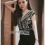 เสื้อผ้าแฟชั่นเกาหลี Lady Ribbon's Made Lady Martha Tribal Chic Crystal Embellished Black Jumpsuit thumbnail 5