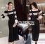 เสื้อผ้าแฟชั่นเกาหลี Lady Ribbon's Made Lady Victora Minimal Chic Striped Blue and Belted Overall Jumpsuit Set thumbnail 2