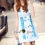 เสื้อผ้าแฟชั่นเกาหลี Seoul Secret Say's...Fashion Blue Diamond Embroidery Dress thumbnail 10