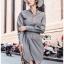 เสื้อผ้าแฟชั่นเกาหลี Lady Ribbon's Made Lady Smart Chic Twist Ribbon Shirt Dress thumbnail 5