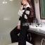 เสื้อผ้าแฟชั่นเกาหลี Lady Ribbon's Made Lady Victora Minimal Chic Striped Blue and Belted Overall Jumpsuit Set thumbnail 8