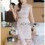 🎀 Lady Ribbon's Made 🎀 Lady Emma Sweet Baby Pink Guipure Lace Dress thumbnail 3