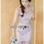 🎀 Lady Ribbon's Made 🎀 Lady Emma Sweet Baby Pink Guipure Lace Dress thumbnail 5
