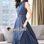 Seoul Secret Say's... Korea Dnim Perforated Collar Perforate Shirt Dress thumbnail 2