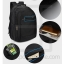 Laptop Notebook Backpack, Waterproof, Men & Women, Color Line, Classic Black thumbnail 8