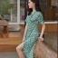เสื้อผ้าแฟชั่นเกาหลี Lady Ribbon Thailand Normal Ally Present H.M Flower print summer dress thumbnail 2