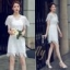 เสื้อผ้าแฟชั่นเกาหลี New Arrival.. Don't Miss!! Normal Ally Present Princess lace white dress thumbnail 10